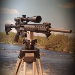 AR-15 picatinny rail mount tripod